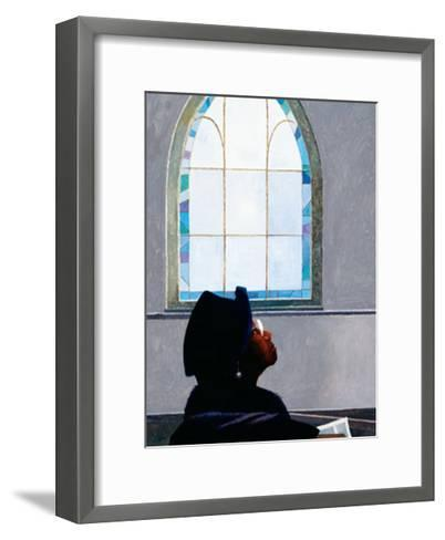 Listening to the Lord-Dean Mitchell-Framed Art Print
