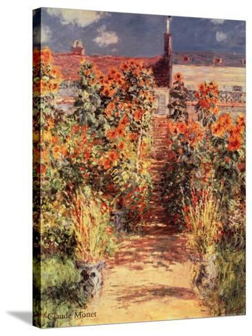 Garden at Vetheuil-Claude Monet-Stretched Canvas Print