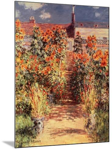 Garden at Vetheuil-Claude Monet-Mounted Art Print
