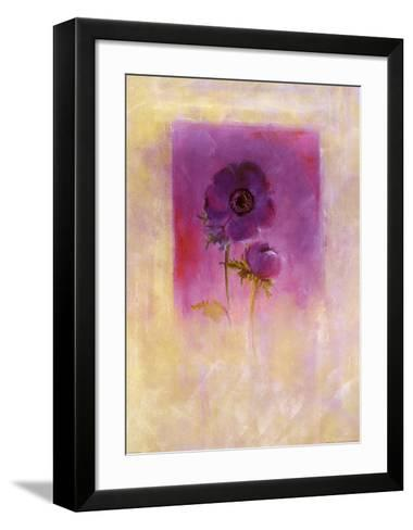 Lilac Anemone-Matilda Ellison-Framed Art Print