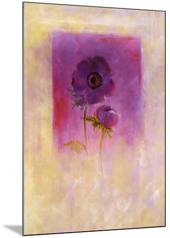 Lilac Anemone-Matilda Ellison-Mounted Art Print