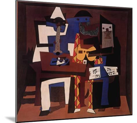 Three Musicians, c.1921-Pablo Picasso-Mounted Art Print