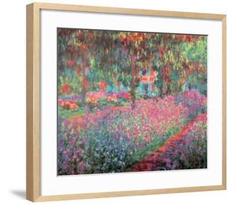 The Artist's Garden of Giverny, c.1900-Claude Monet-Framed Art Print