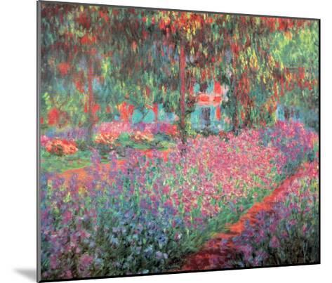 The Artist's Garden of Giverny, c.1900-Claude Monet-Mounted Art Print