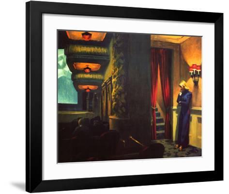 New York Movie-Edward Hopper-Framed Art Print