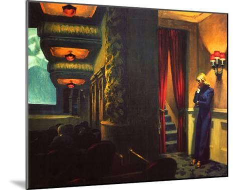 New York Movie-Edward Hopper-Mounted Giclee Print