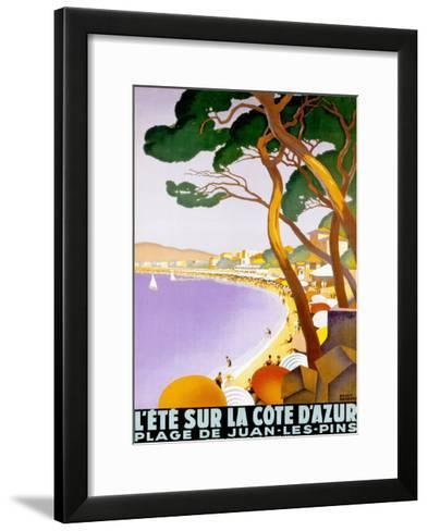 L'Ete sur la Cote d'azur-Roger Broders-Framed Art Print