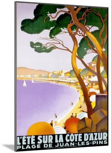 L'Ete sur la Cote d'azur-Roger Broders-Mounted Art Print