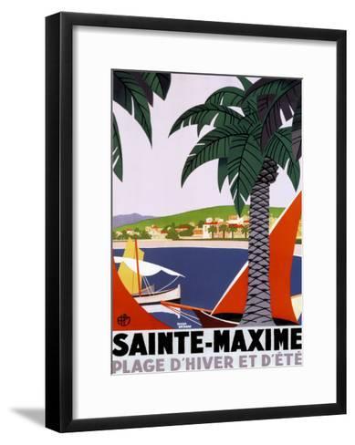 Sainte Maxime-Roger Broders-Framed Art Print