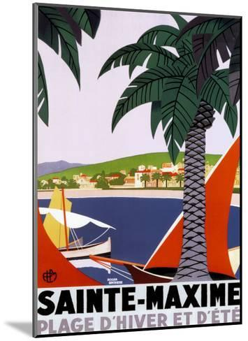 Sainte Maxime-Roger Broders-Mounted Art Print