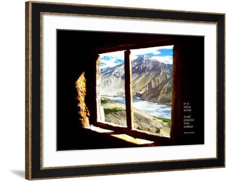 It is Your Mind...--Framed Art Print