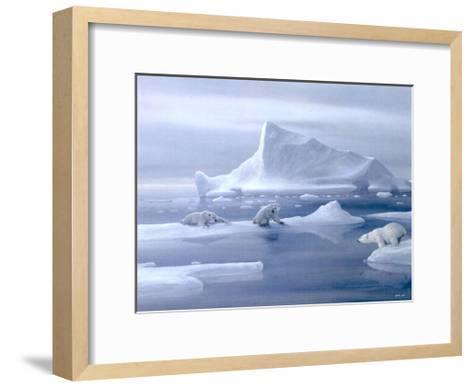 Play Time Polar Bear-David Jean-Framed Art Print