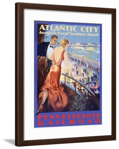 Looking Deco--Framed Art Print