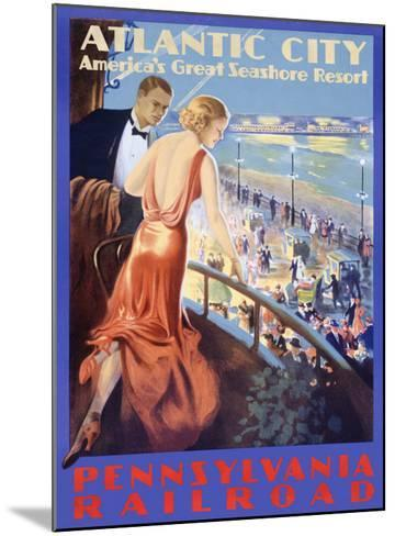 Looking Deco--Mounted Giclee Print
