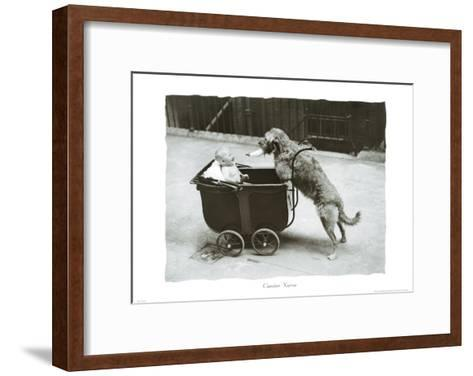 Canine Nurse--Framed Art Print