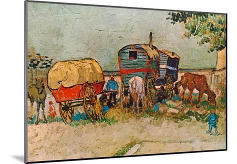 Caravans Encampment of Gypsies-Vincent van Gogh-Mounted Art Print