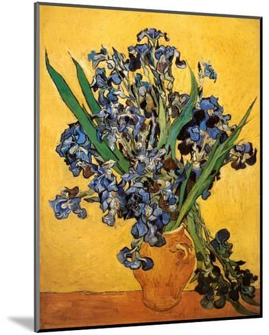 Vase of Irises Against a Yellow Background, c.1890-Vincent van Gogh-Mounted Art Print