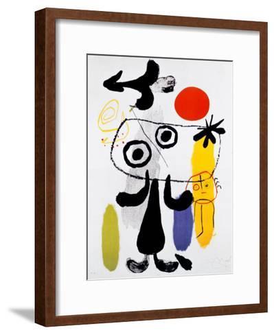 Figur Gegen Rote Sonne II, c. 1950-Joan Mir?-Framed Art Print