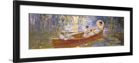 Boating on the Marsh-James Hill-Framed Art Print