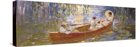 Boating on the Marsh-James Hill-Stretched Canvas Print