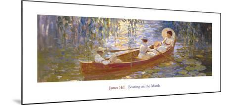 Boating on the Marsh-James Hill-Mounted Art Print