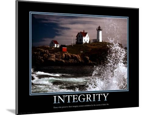 Integrity--Mounted Art Print