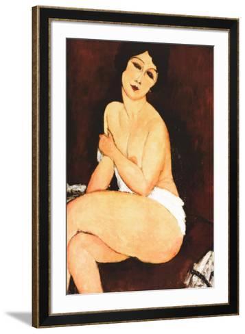 Beautiful Woman-Amedeo Modigliani-Framed Art Print
