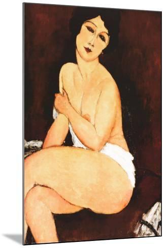 Beautiful Woman-Amedeo Modigliani-Mounted Art Print