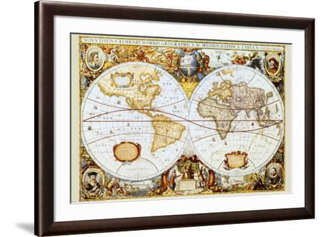 Map of the World--Framed Art Print