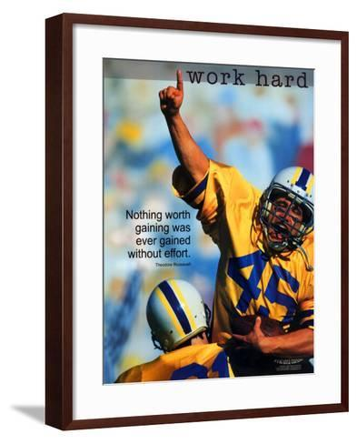 Work Hard--Framed Art Print