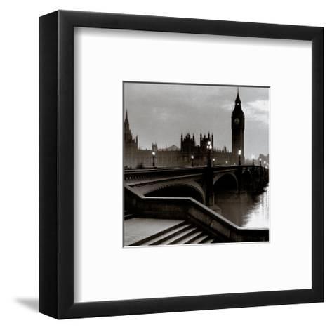 Bridge with Big Ben--Framed Art Print