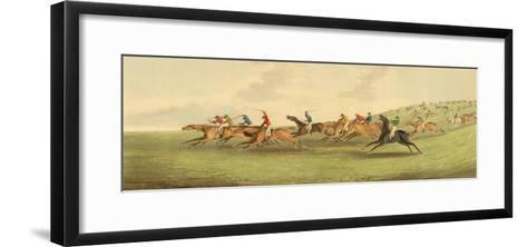 Epsom: Running-Henry Alken-Framed Art Print