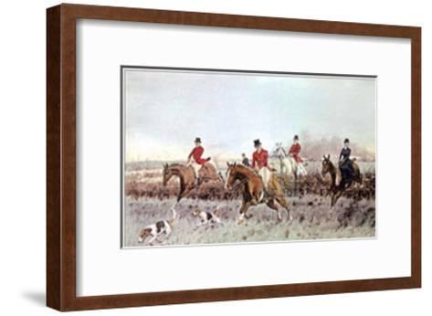 The Cream-George Wright-Framed Art Print