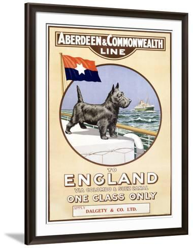 Aberdeen and Commonwealth Line-P. H. Yorke-Framed Art Print