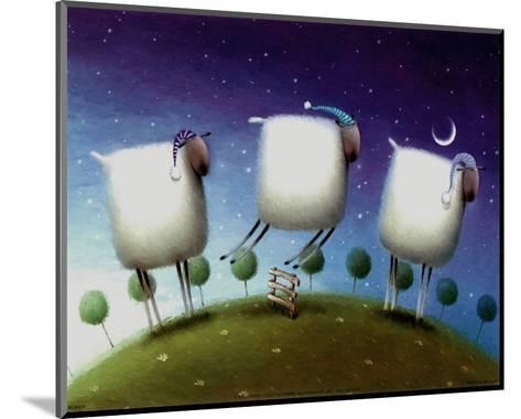 Insomniac Sheep-Rob Scotton-Mounted Art Print