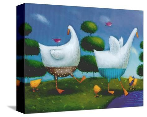 Like Ducks to Water-Rob Scotton-Stretched Canvas Print