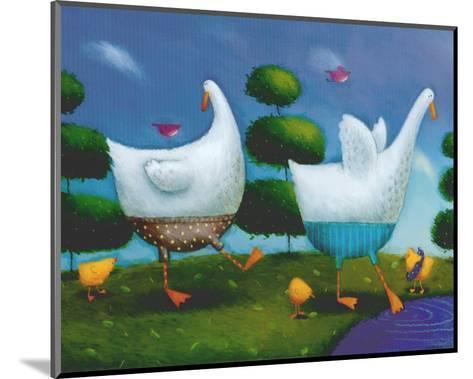 Like Ducks to Water-Rob Scotton-Mounted Art Print