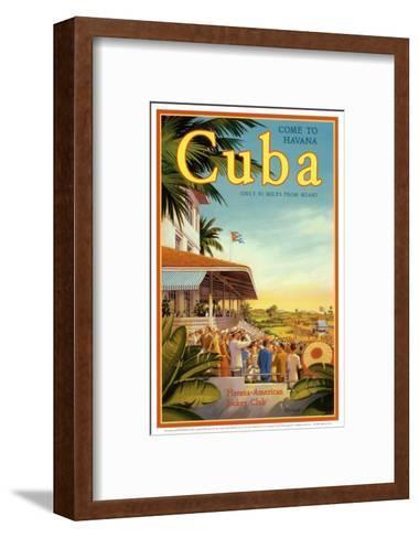 Cuba and American Jockey-Kerne Erickson-Framed Art Print