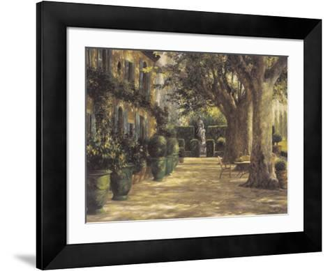 La Signora del Giardino di Tuscana-Greg Singley-Framed Art Print