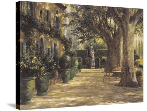 La Signora del Giardino di Tuscana-Greg Singley-Stretched Canvas Print