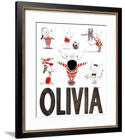 Olivia, Busy Little Piggy-Ian Falconer-Framed Art Print