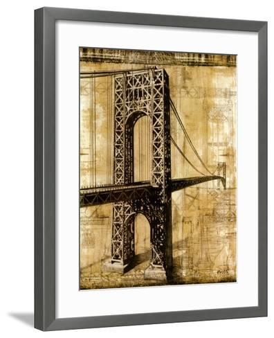 George Washington Bridge-P^ Moss-Framed Art Print