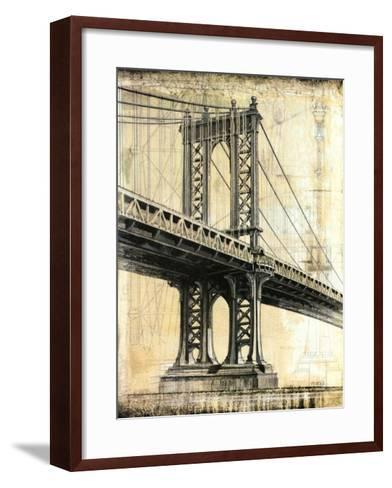 Manhattan Bridge-P^ Moss-Framed Art Print