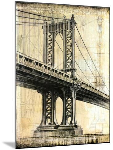 Manhattan Bridge-P^ Moss-Mounted Art Print