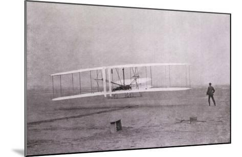 Wright Brothers Flight at Kitty Hawk--Mounted Giclee Print