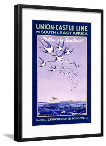 Union Castle Line to South Africa--Framed Art Print