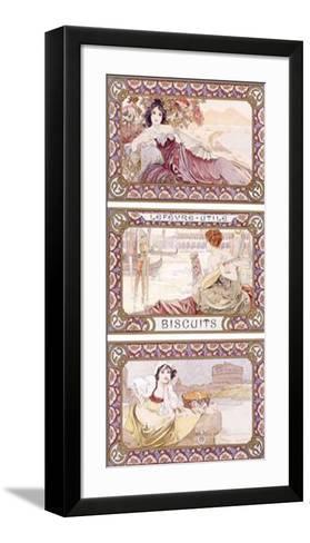 Lefevre-Utile Biscuits-Alphonse Mucha-Framed Art Print