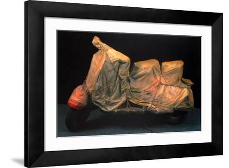 Wrapped Vespa-Christo-Framed Art Print