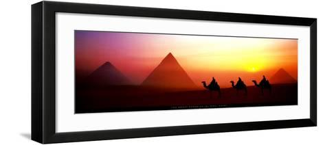 The Great Pyramids, El Giza, Egypt-Shashin Koubou-Framed Art Print