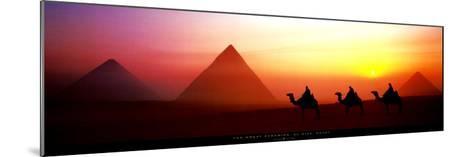 The Great Pyramids, El Giza, Egypt-Shashin Koubou-Mounted Art Print